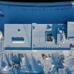 Neubau mmsAG Luftaufnahme Schnee 11.02.2021