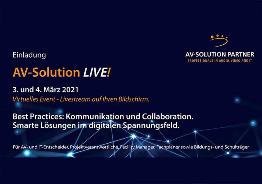 Eeinladung zur AV-Solution LIVE 2021