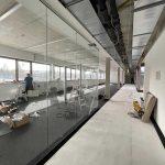 Neubau multi-media systeme Innenausbau Glaswände Büros