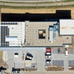 Luftaufnahme vom Dach der multi-media systeme im Neubau