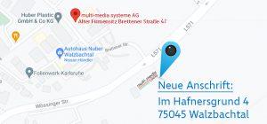 Anfahrt zum Neubau der multi-media systeme AG in Wössingen