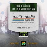 Wizards begrüßen den Sponsor multi-media systeme AG