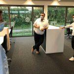 multi-media systeme empfängt CDU im Neubau
