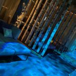 Beleuchtung im Saunabereich der Wasserwelt Rulantica