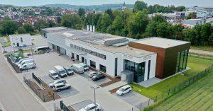 Luftaufnahme der neuen Firmenzentrale der multi-media systeme AG